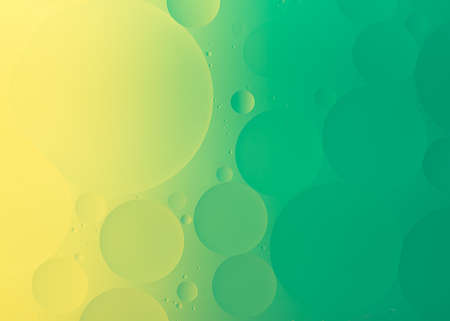 Close up of oil on water abstract macro green colorful background. Фото со стока - 152482482