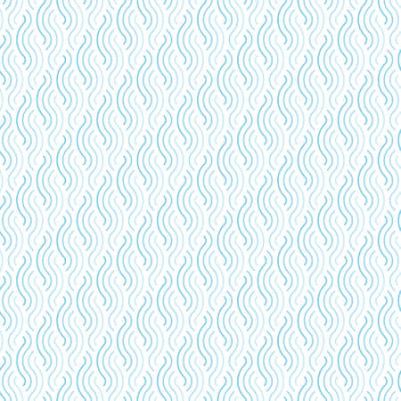 Abstract curly line seamless pattern blue texture background