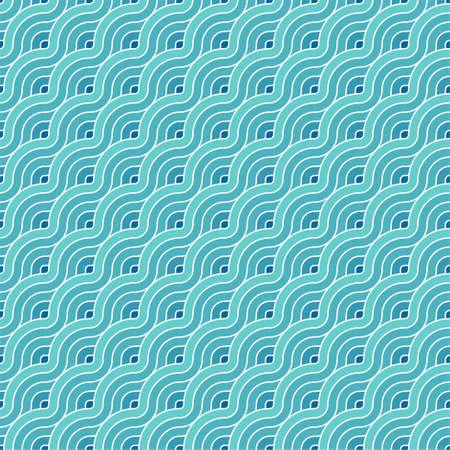 Diagonal line blue wave seamless pattern background Illusztráció