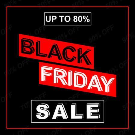 Black friday sale promotion banner text design for advertising Illusztráció