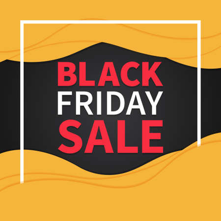 Black friday sale promotion banner template Illusztráció