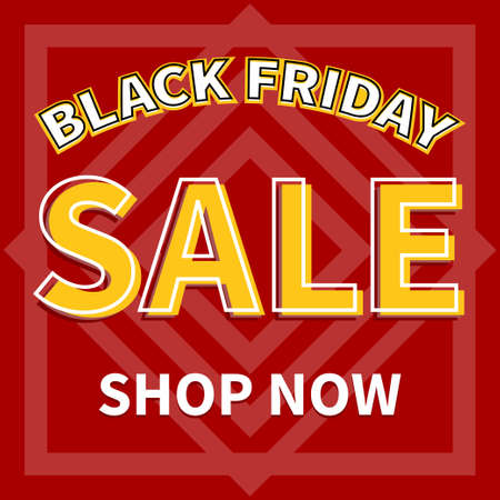 Red and yellow color sale promotion banner template Black friday event