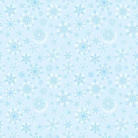 Christmas snowflake seamless pattern, blue background 向量圖像