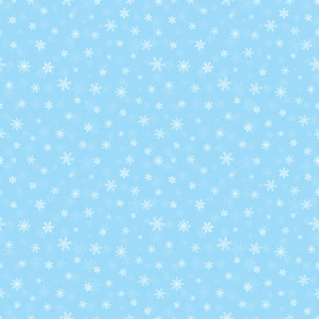 Christmas small snowflake seamless pattern, blue background Иллюстрация