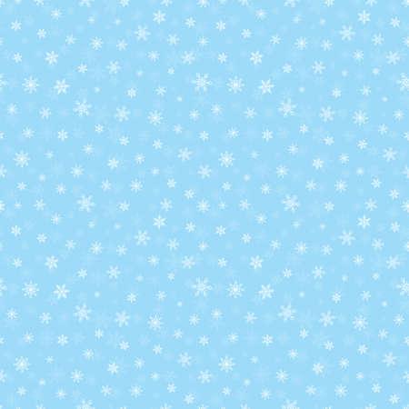 Christmas small snowflake seamless pattern, blue background 向量圖像