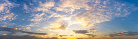 Cloudy morning sky sunrise or sunset time nature background