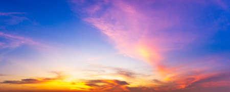 Colorful cloudy twilight sky panorama sunrise or sunset time nature background 版權商用圖片