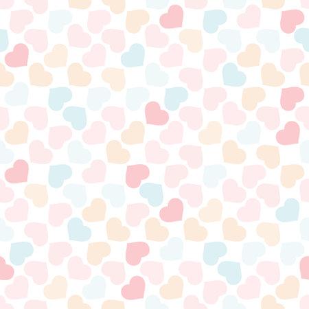 Colorful hearts shape seamless pattern 向量圖像