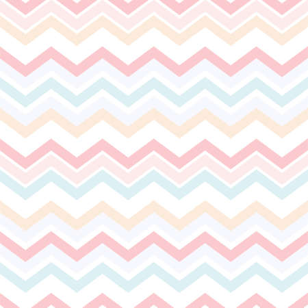Colorful pastel zigzag seamless pattern