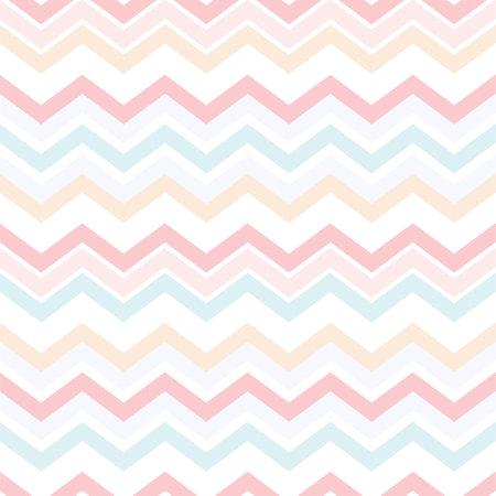 Colorful pastel zigzag seamless pattern