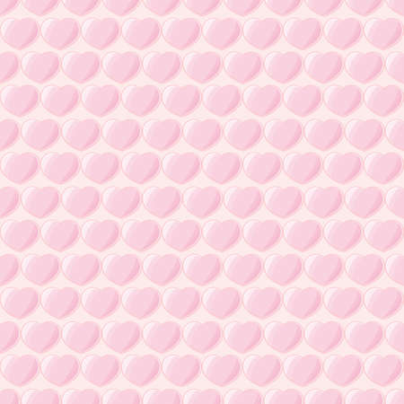 Glossy hearts shape pink colors seamless pattern