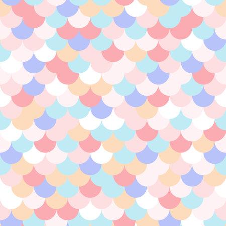 Fish scale seamless pattern colorful geometric wavy
