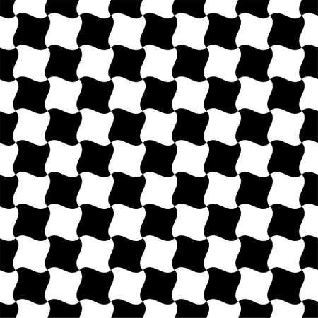 Abstract geometric black and white background checkered seamless pattern Иллюстрация