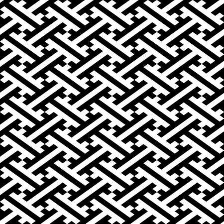 Abstract continuous diagonal crosses seamless pattern geometric background Иллюстрация