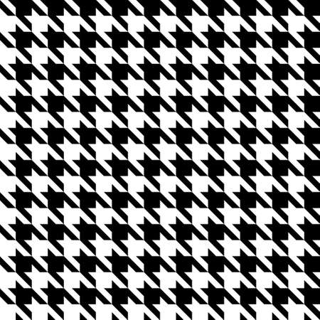 Abstract black and white houndstooth seamless pattern Иллюстрация