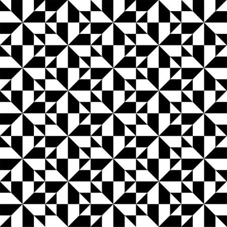 Abstract geometric black and white background seamless pattern