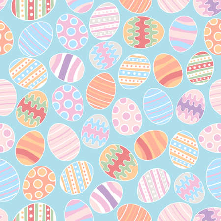 Colorful Easter eggs seamless pattern