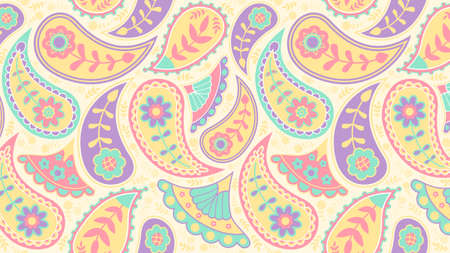 Colorful paisley pattern background