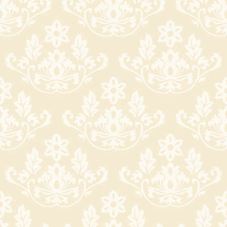 Damask wallpaper seamless pattern background beige color