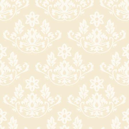 Damask wallpaper seamless pattern background beige color