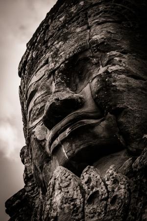 cambodia sculpture: Carving in Bayon Temple at Angkor ThomAngkor Wat, Cambodia.