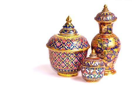 Lai Thai Jar Stock Photo - 15415335