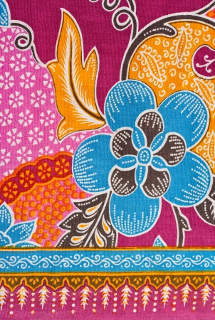 Paint Lai Thai on Fabric Stock Photo - 15652142
