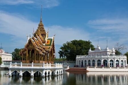 A main Bang Pa-in palace near in Bangkok Thailand, Ayutthaya province Editorial