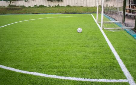 old football on Artificial turf football field green