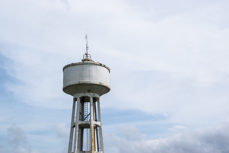 Water Tank Tower with cloud storm