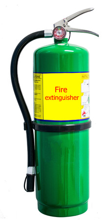 suppression: Fire extinguisher isolate on white