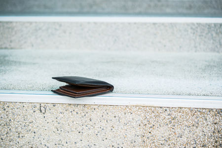 Lost wallet on staircase the street