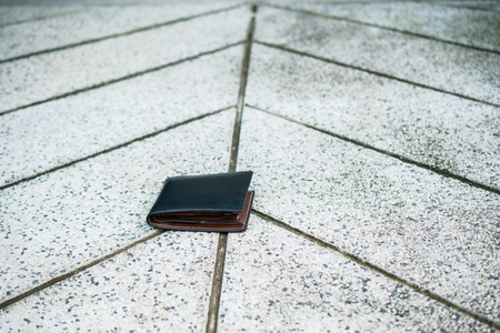 Lost wallet on the street Stock Photo