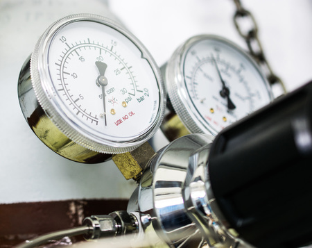 The gauge for measure of gas cylinder