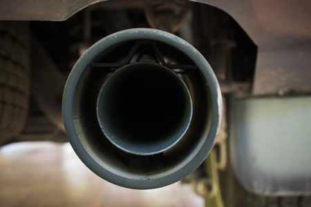 Closeup of  Exhaust car pipe Stock Photo