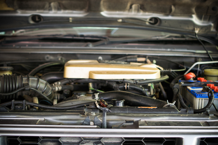 Close up of car radiator