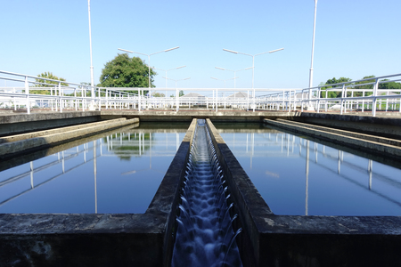 Sedimentation unit of Conventional Water Treatment Plant Stock Photo - 120268886