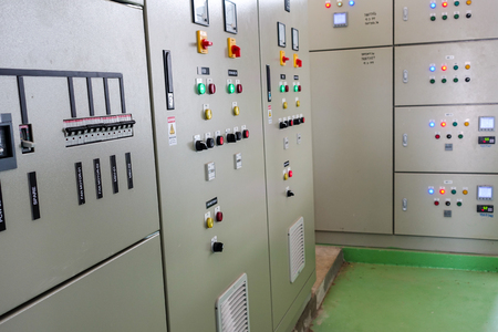 Low-voltage cabinet in a water treatment plant