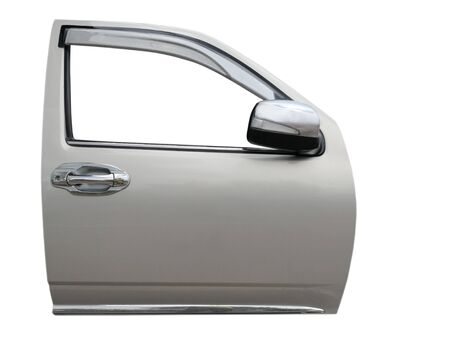 Car door isolated on white  with clip path Stok Fotoğraf