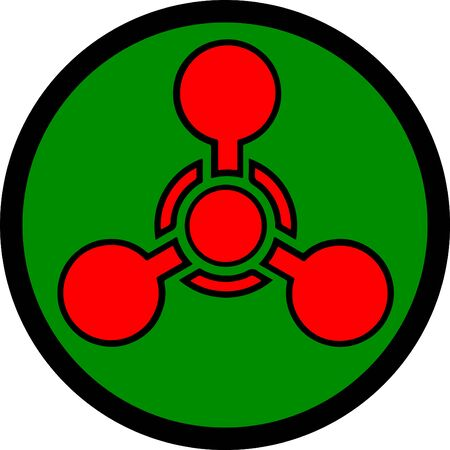 Standard Pictogam of Chemical weapon Symbol, Warning sign of Globally Harmonized System (GHS)