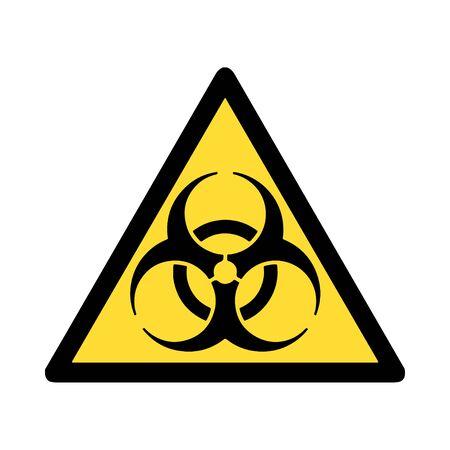 Standard Pictogam of Biological hazard Symbol, Warning sign of Globally Harmonized System (GHS) Ilustração