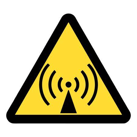 Standard Pictogam of Non-ionizing radiation Symbol, Warning sign of Globally Harmonized System (GHS)
