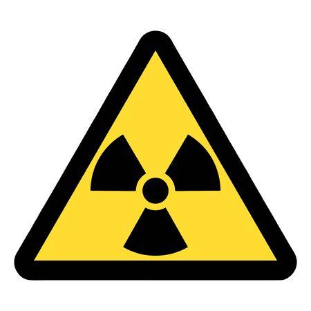 Standard Pictogam of Ionizing radiation Symbol, Warning sign of Globally Harmonized System (GHS)