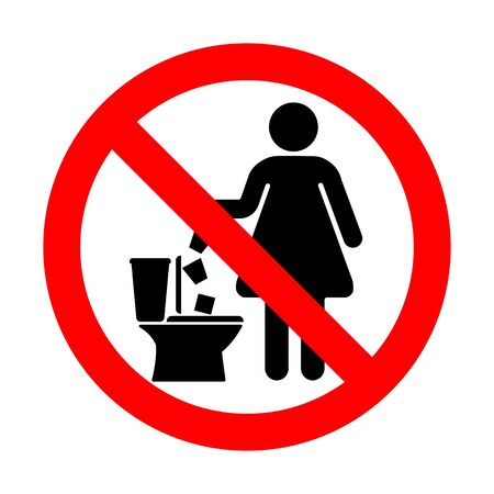 No throw paper sanitary pads and tampons in the toilet.