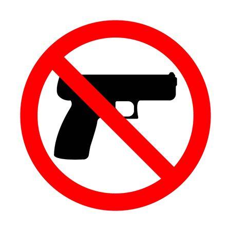 No Gun Sign Ilustração