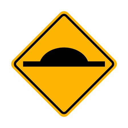 Speed Hump sign vector ESP10 矢量图像
