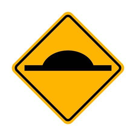 Speed Hump sign vector ESP10 Illustration
