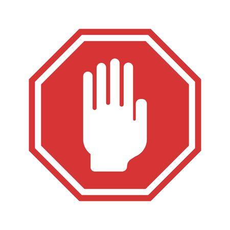 Red traffic stop sign vetor
