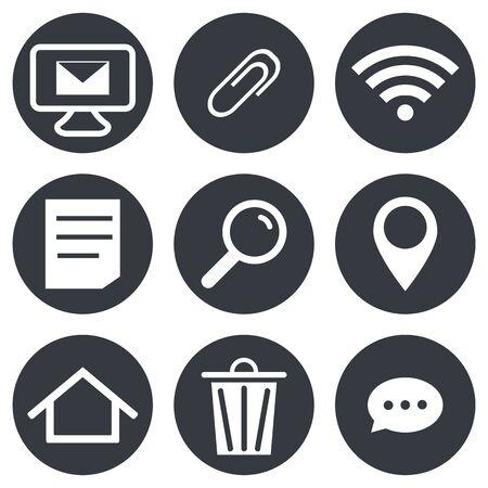 Social network icons, Set Communication Sign vector Illustration