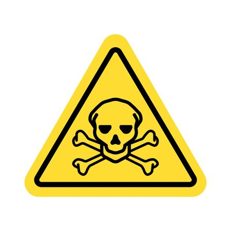 warning sign with skull symbol Imagens - 148847433